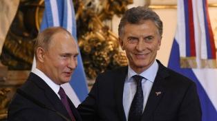 Putin está en la Casa Rosada y después compartirá la cena con Macri