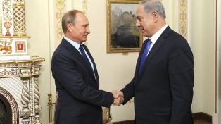 Netanyahu le transmite a Putin que seguirá atacando objetivos iraníes en Siria