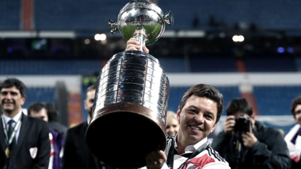 Gallardo llegó a siete semifinales en los ocho torneos continentales que dirigió a River