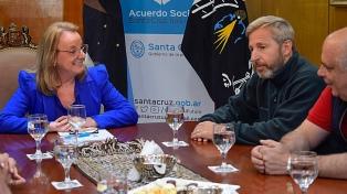 Frigerio se reunió con la gobernadora de Santa Cruz