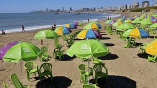 Las playas gratuitas de Mar del Plata recibieron 23% más de turistas que en 2018