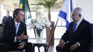 Netanyahu dijo que Bolsonaro le prometió trasladar la embajada a Jerusalén