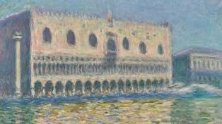 """Subastan """"El Palacio Ducal"""" de Monet, luego de permanecer casi un siglo sin exhibirse"""