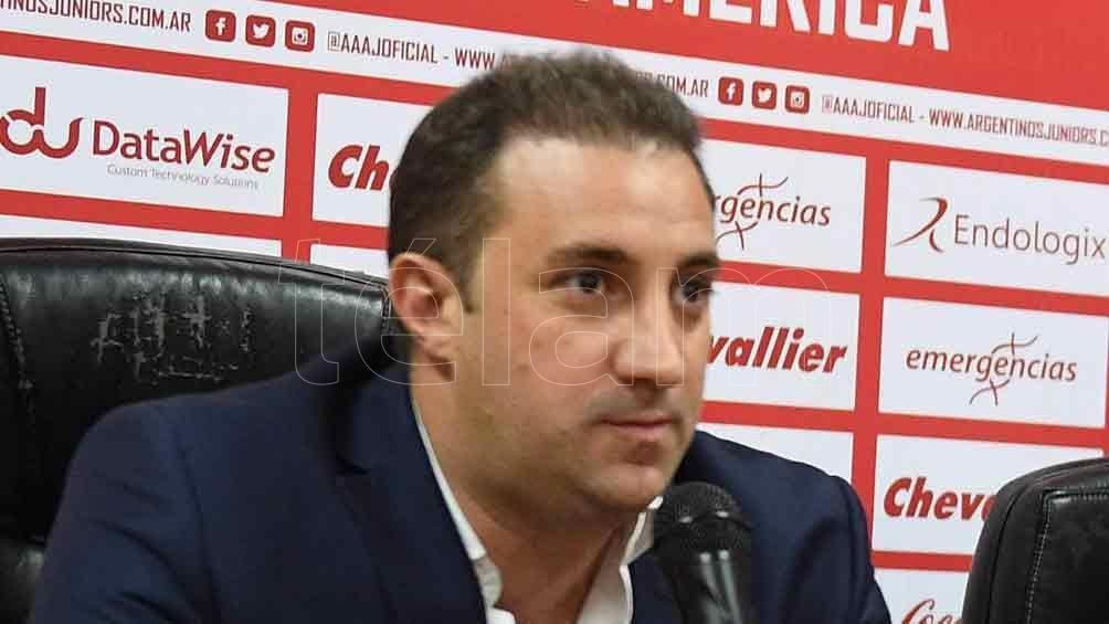 Cristian Malaspina es presidente de Argentinos Juniors en 2015 y cuatro años después renovó su mandato hasta 2023.