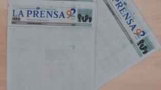 El principal diario del país dejó su tapa en blanco en repudio contra el gobierno