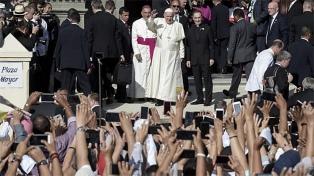 """Francisco dijo que los jóvenes que participaron de la Jornada """"hicieron vibrar al mundo"""""""