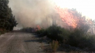 Sigue activo el incendio en Epuyén pero está contenido el de Lago Puelo