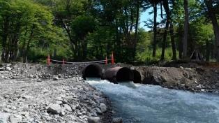 Habilitaron un desvío de la ruta 41 a Lago del Desierto para reparar un puente