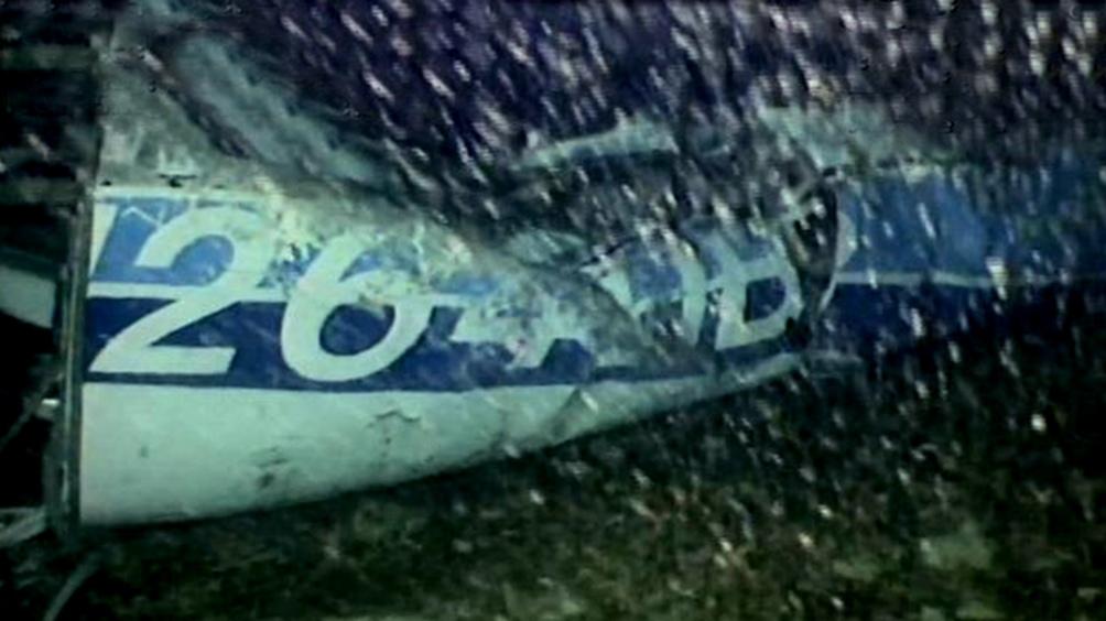 Los restos de la aeronave donde iba el argentino, que cayó sobre el Canal de la Mancha en 2019