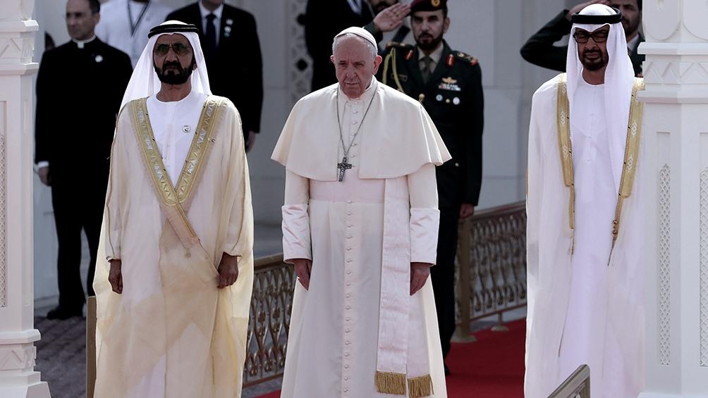 La segunda visita de Francisco a Medio Oriente fue a los Emiratos Árabes Unidos en el 2019.