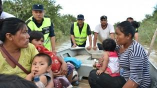 Llegan a 322 los evacuados por la crecida del Pilcomayo