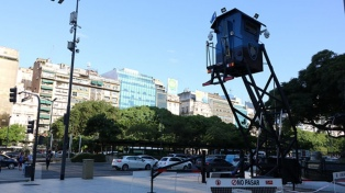 Comenzaron a funcionar las primeras torres de video vigilancia sobre la avenida 9 de Julio