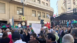 Trabajadores de C5N se manifestaron frente a la Cámara de Apelaciones