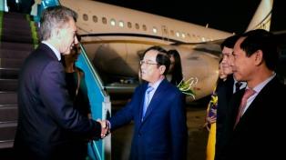 El Presidente inició en Vietnam el último tramo de su gira asiática