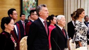 Macri acordó con su par de Vietnam ir a una asociación integral