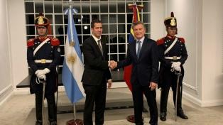 Macri recibió al venezolano Juan Guaidó en la Quinta de Olivos