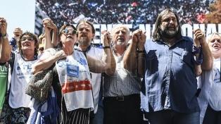 Los docentes marcharon a Plaza de Mayo e iniciaron un paro de 72 horas