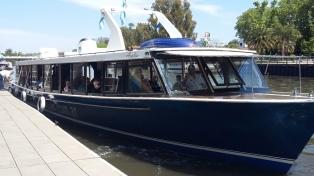 Comenzó a funcionar, con 29 pasajeros, el servicio en lancha entre San Isidro y Puerto Madero