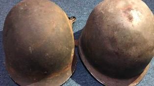 Buscan devolver el casco de un soldado de Malvinas a su dueño