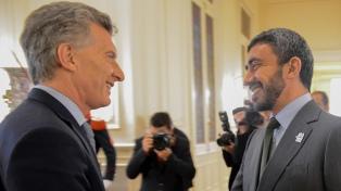 Macri recibió al canciller de los Emiratos Árabes Unidos