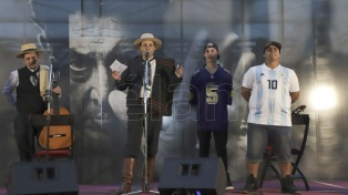 Payadores y raperos improvisaron junto a la Casa Rosada