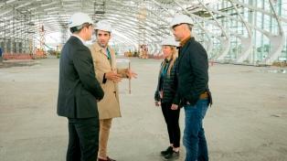 Dietrich anunció que a fines de agosto estarán terminadas las obras en la nueva terminal
