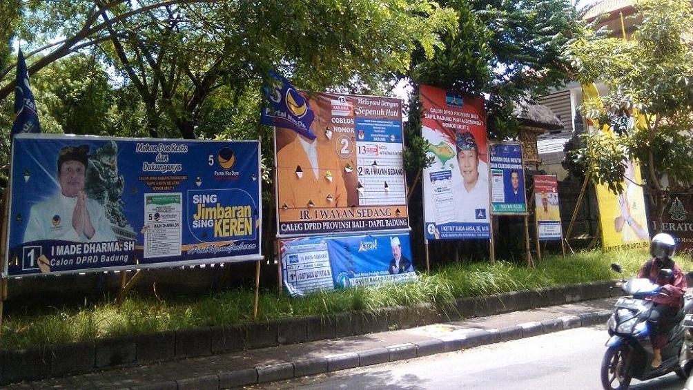 La campaña electoral en Indonesia