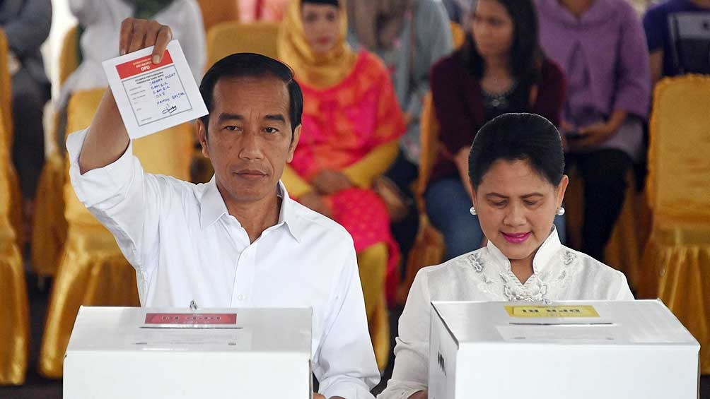 Joko Widodo logró la reelección