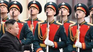 Kim Jong-un llegó a la ciudad rusa de Vladivostok para tratar con Putin la cuestión nuclear