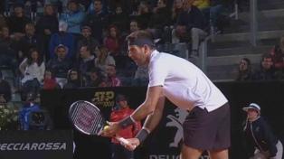 Del Potro cayó ante Djokovic y se despidió del Masters 1000 de Roma