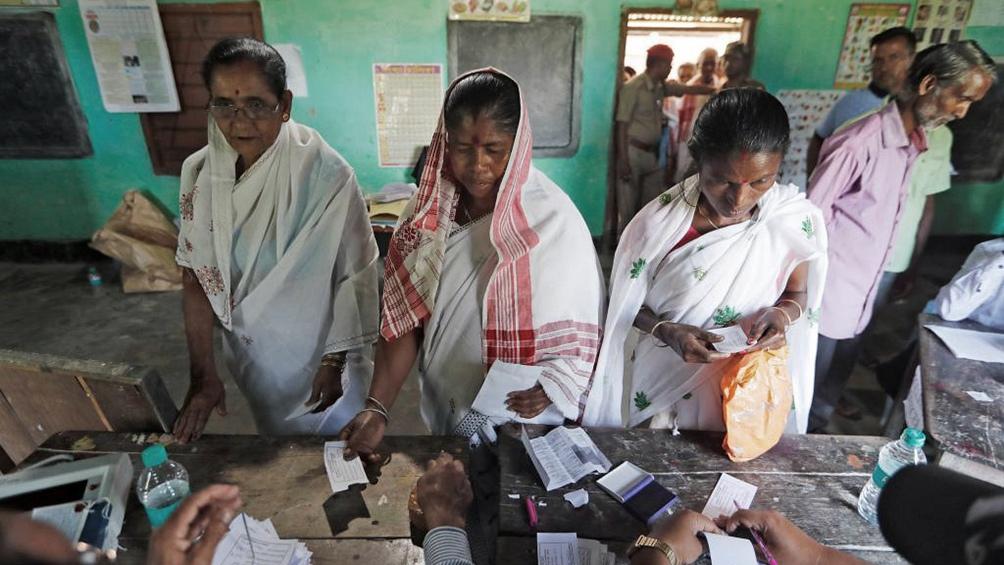 En la india votaron durante siete jornadas electorales