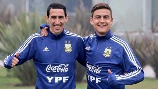 El seleccionado argentino se entrenó sin Messi