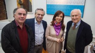 La fórmula Fernández-Fernández recibió a Pino Solanas y Mario Cafiero
