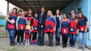La primera dama visitó el jardín de infantes Santa Elena