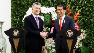 """Macri dijo que Indonesia es """"un socio comercial clave para el presente y futuro de la Argentina"""""""