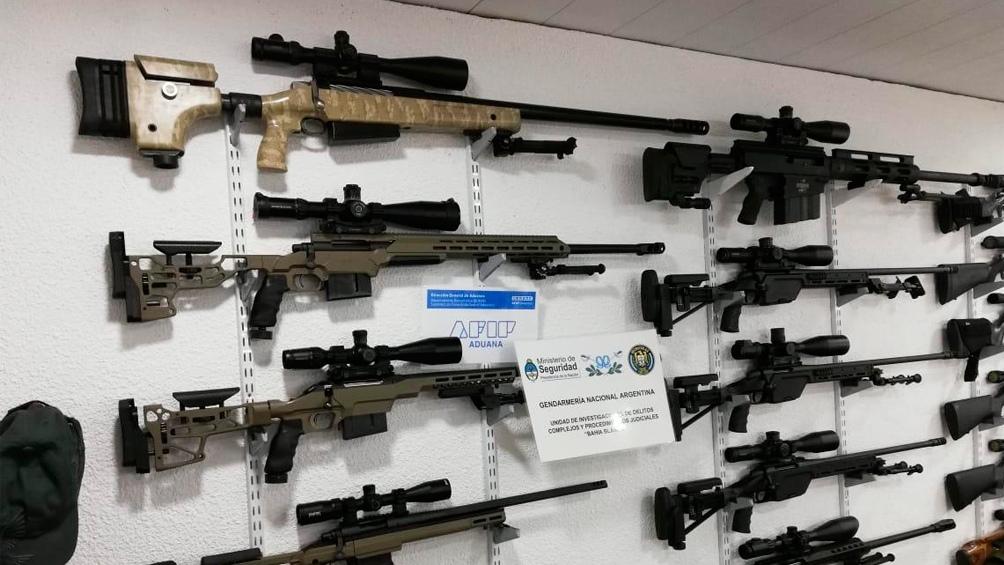 Parte de las armas secuestradas que tenían como destino final Estados Unidos.