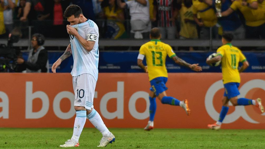 """Argentina y su última derrota ante Brasil en tierras """"verdeamarelhas"""" (Foto archivo)"""