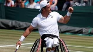 """El """"Lobito"""" Fernández queda a un título del Grand Slam en tenis adaptado tras coronarse en Wimbledon"""