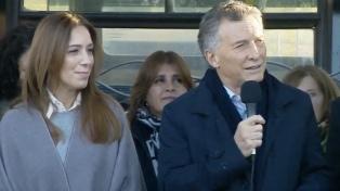 """""""Estoy listo para seguir trabajando juntos"""", dijo Macri al inaugurar el Metrobús en San Martín"""