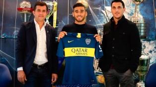 Eduardo Salvio firmó su contrato con Boca