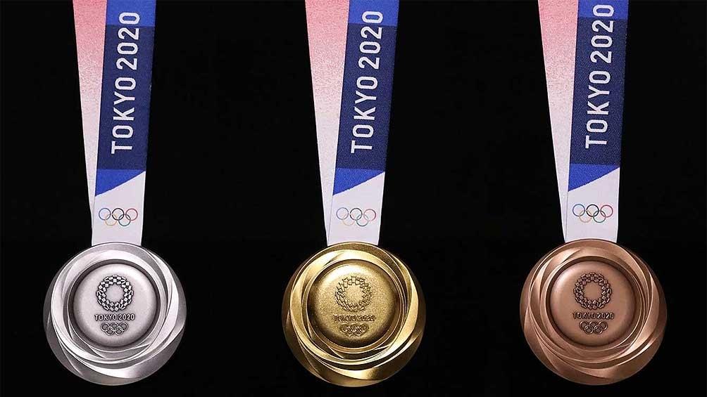 Las preseas que Tokio 2020 entregará a los atletas para los Juegos Olímpicos (foto archivo)