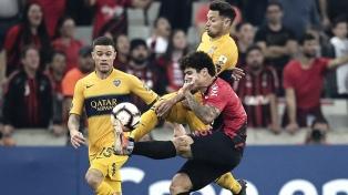 Boca venció a Athlético Paranaense en la ida de los octavos de final