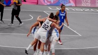 El equipo femenino de Argentina se metió en la final del Básquetbol 3x3