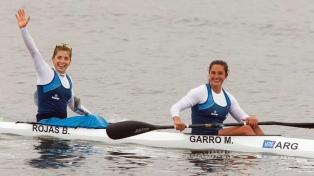 Rojas y Garro sumaron una medalla de plata en el K2 500 de canotaje femenino