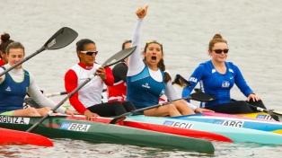 Sabrina Ameghino, oro en el K1 200 de canotaje femenino