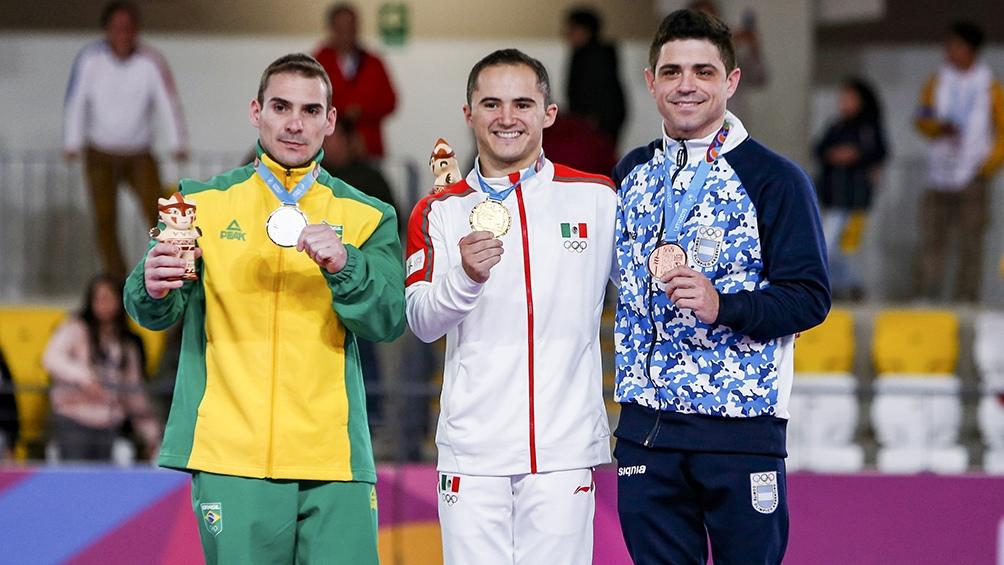 Federico Molinari obtuvo la medalla de bronce en la final de anillas de gimnasia artística de los Juegos Panamericanos de Lima 2019.