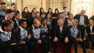 Macri recibió a atletas argentinos que participaron en los Juegos Panamericanos