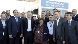 """Macri sostuvo que se puede """"cambiar la historia"""" al inaugurar un nuevo paso fronterizo con Paraguay"""