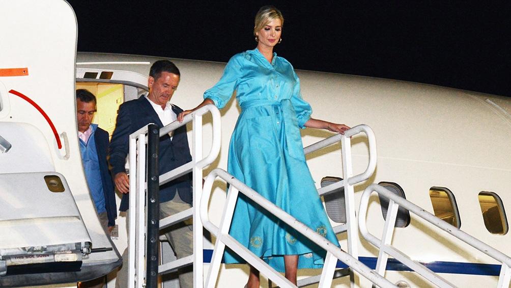 La hija mayor de Trump llegó al aeropuerto de Jujuy en la noche del 4 de septiembre de 2019.