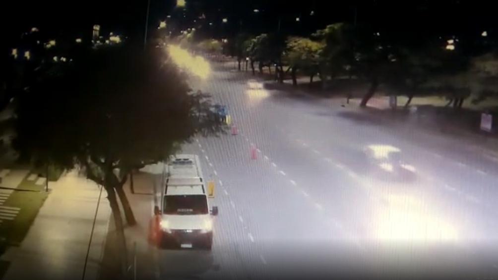 Veppo circulaba por la avenida Figueroa Alcorta a 132,75 kilómetros por hora, cuando la máxima es de 70.
